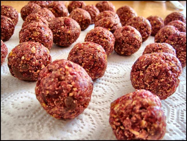 Craisin Choco Popcorn Energy Balls